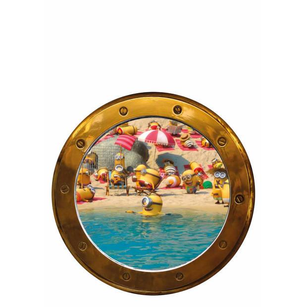 patrijspoort Boot - Muurstickers - 2 stuks - diameter 27,5cm - Multi