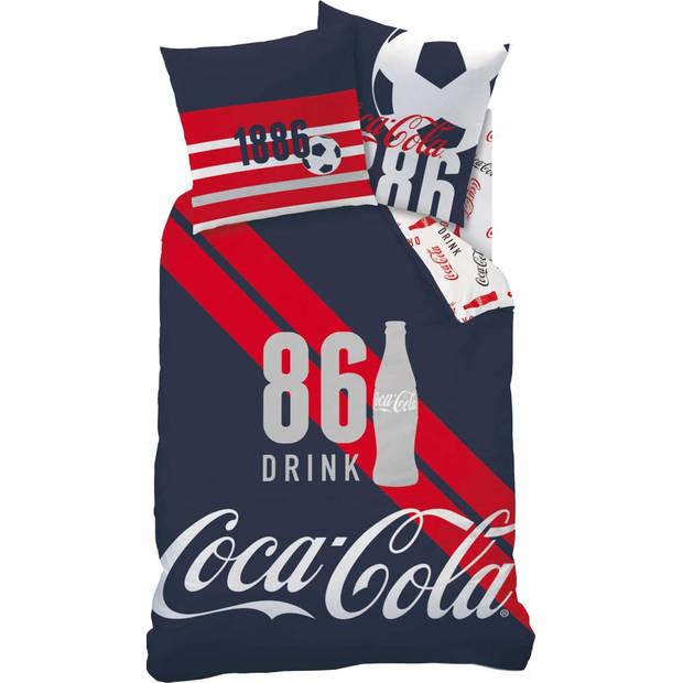 Coca Cola Sport - Dekbedovertrek - Eenpersoons - 140 x 200 cm - Blauw