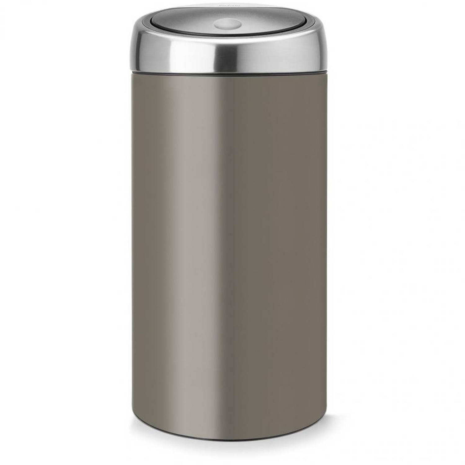Foto Brabantia Touch Bin Recycle 2 x 20 l - Platinum met Fingerprint Proof deksel