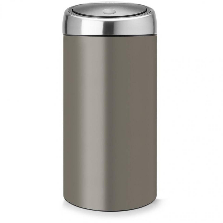 Brabantia Touch Bin Recycle 2 x 20 l Platinum met Fingerprint Proof deksel
