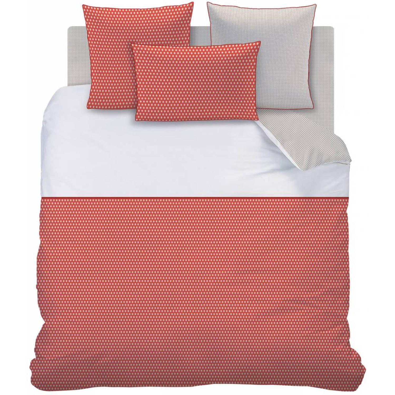 Matt & Rose Esprit géométrique - Dekbedovertrek - Lits Jumeaux - 240 x 220 cm - Brique