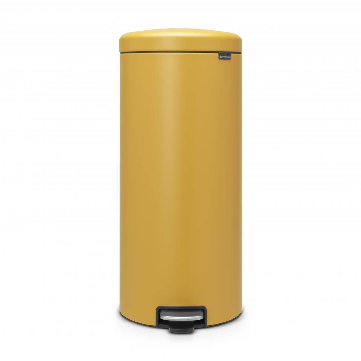 Brabantia newIcon pedaalemmer 30 l Mineral Mustard Yellow