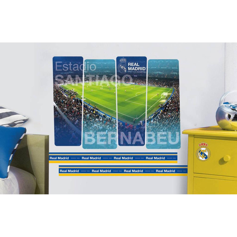 Real Madrid Bernabeu - Muursticker - 50 x 70 cm - Multi