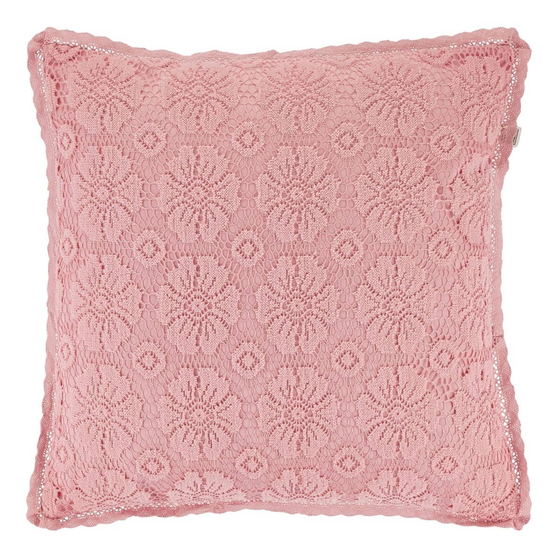 Dutch Decor Sierkussen Paget 45x45 cm roze
