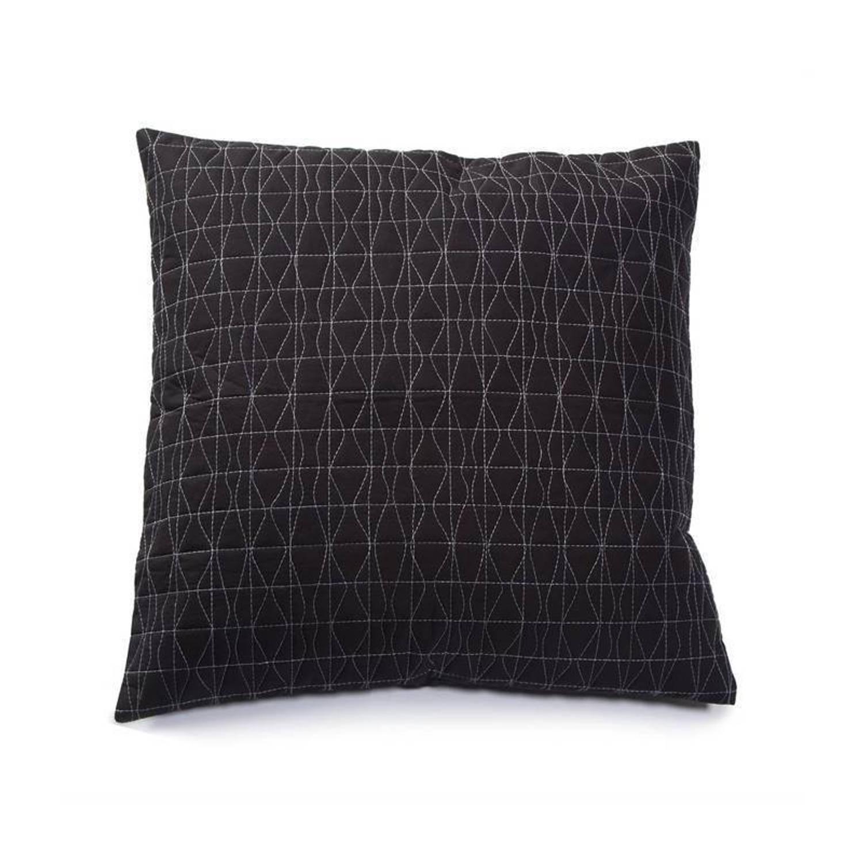 Damai Shape sierkussen - 100% polyester katoen - 50x50 cm - Zwart