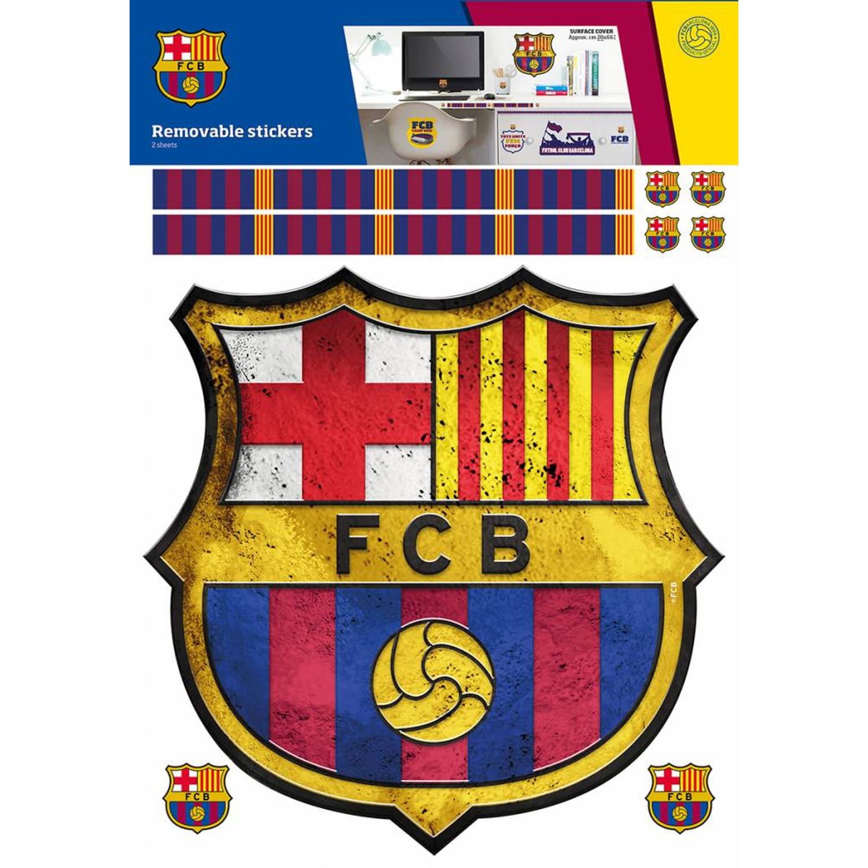 Fc Barcelona Logo 2 - Muursticker - Sheets A3 - Multi
