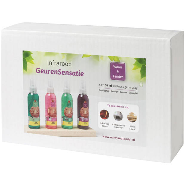 Warm & Tender - Geurspray - Cadeaupakket - 4x 150 ml
