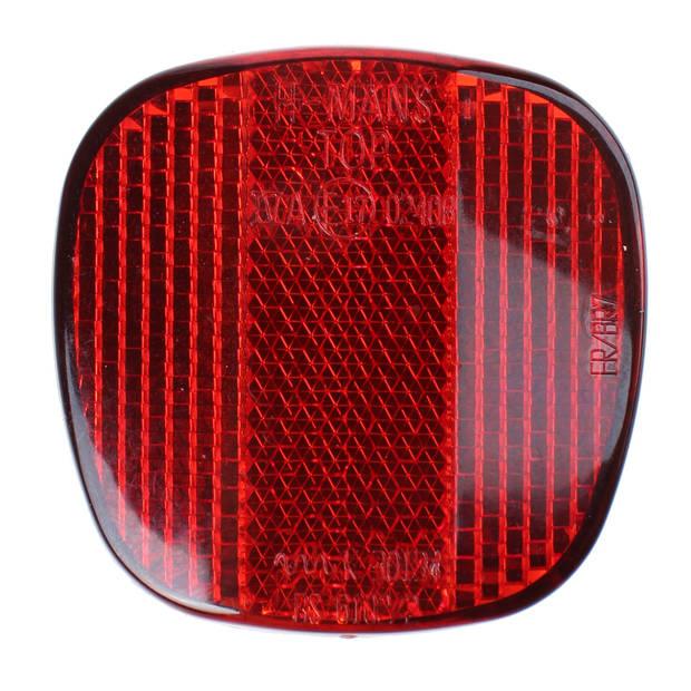 TOM reflector met schroefgat rood per stuk