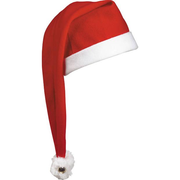 Benza Extra Lange Luxe Kerstmuts - Rood - 10 stuks