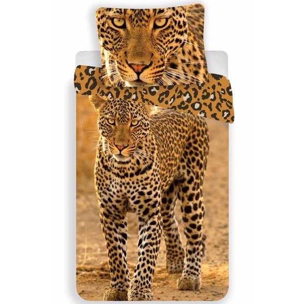 Luipaard - Dekbedovertrek - Eenpersoons - 140 x 200 - Mutli