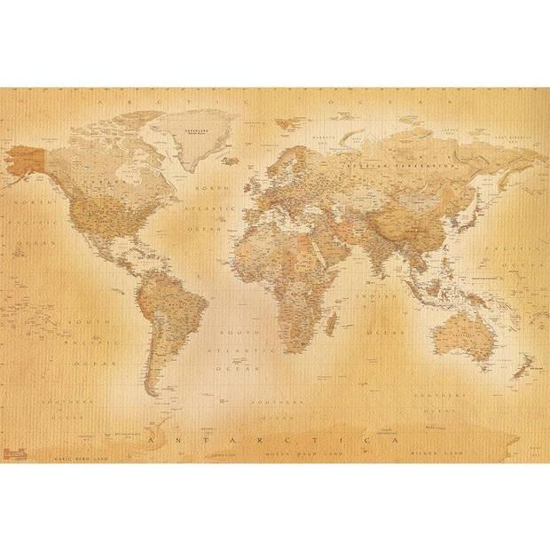 - Old map small - 232 cm x 158 cm - Multi