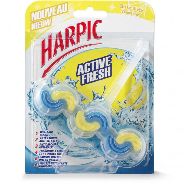 Harpic Active Fresh 6 toiletblok - zomerbries