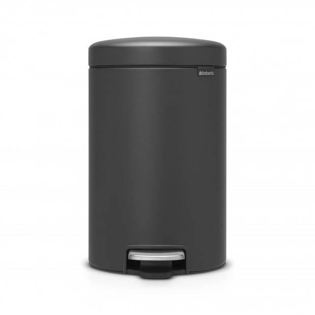 Brabantia newIcon pedaalemmer 12 liter met kunststof binnenemmer - Mineral Infinite Grey