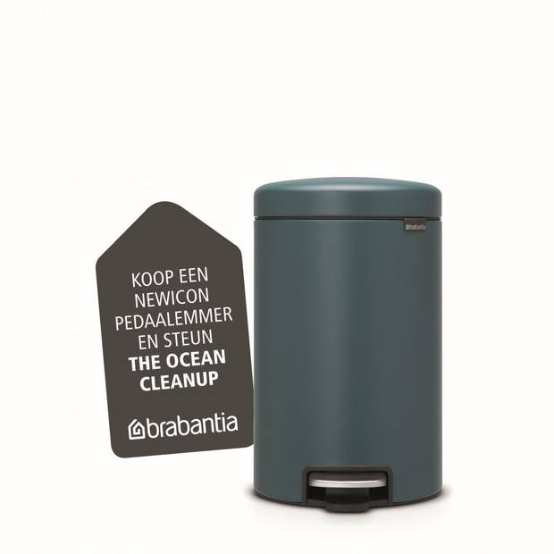 Brabantia newIcon pedaalemmer - 12 l - Mineral Reflective Blue