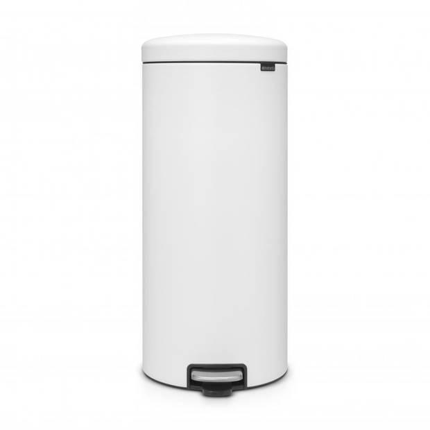 Brabantia newIcon pedaalemmer 30 liter met kunststof binnenemmer - Mineral Eternal White