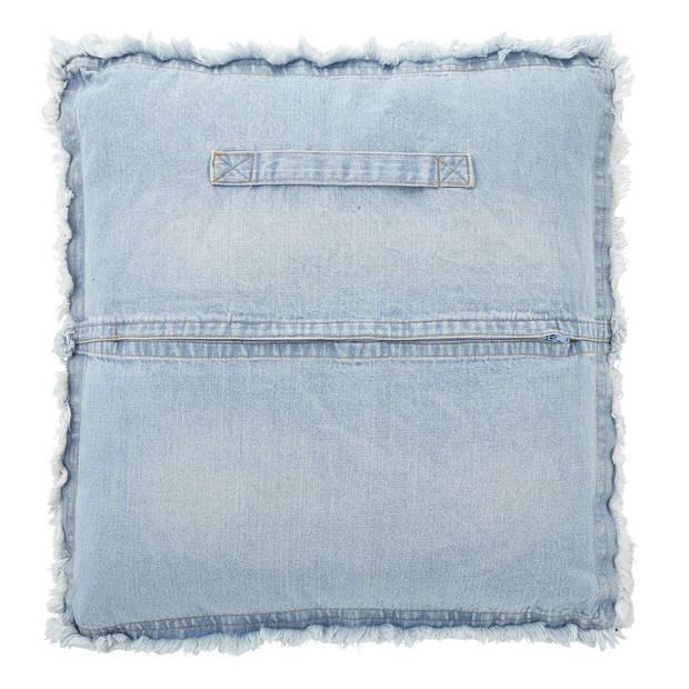 Dutch Decor Sierkussen Futon 45x45 cm blauw