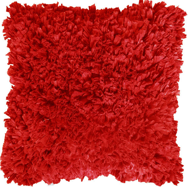 Dutch Decor Sierkussen Romano 45x45 cm rood