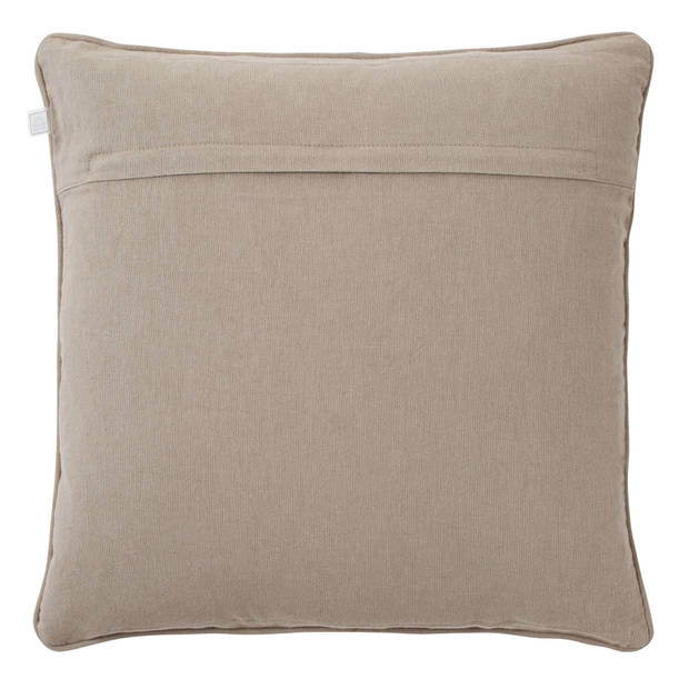 Dutch Decor Sierkussen Manova 45x45 cm taupe