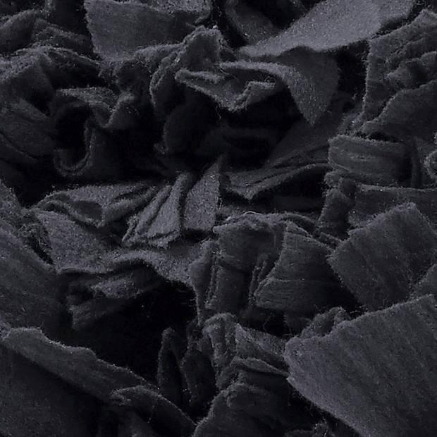 Dutch Decor Sierkussen Romano 45x45 cm zwart