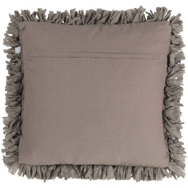 Dutch Decor Sierkussen Romano 45x45 cm taupe