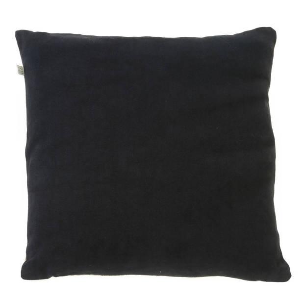 Dutch Decor Sierkussen Arjen 45x45 cm zwart