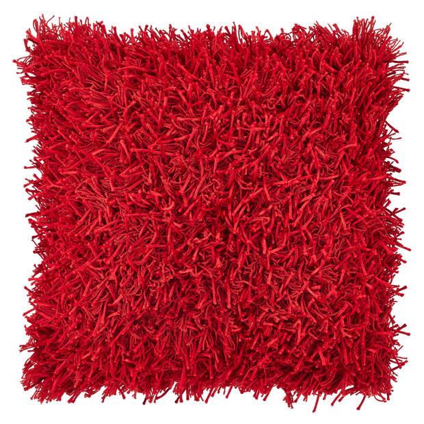 Dutch Decor Sierkussen Ottawa 45x45 cm rood