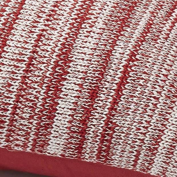 Dutch Decor Sierkussen Tainer 45x45 cm rood
