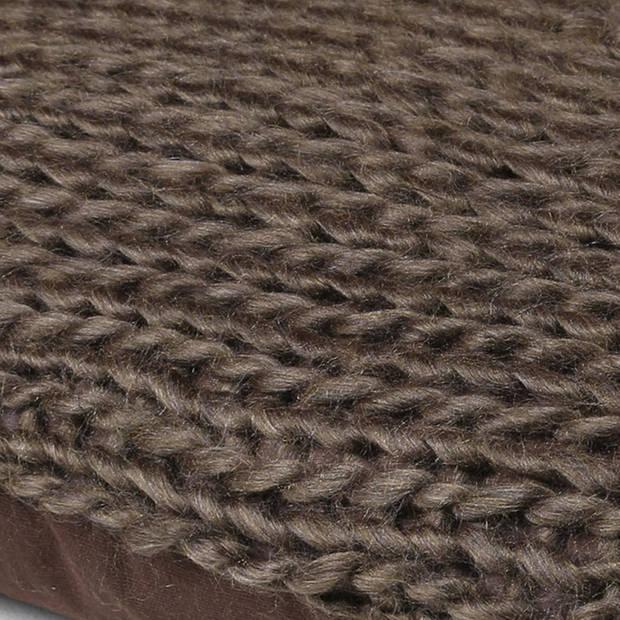 Dutch Decor Sierkussen Wilga 45x45 cm bruin