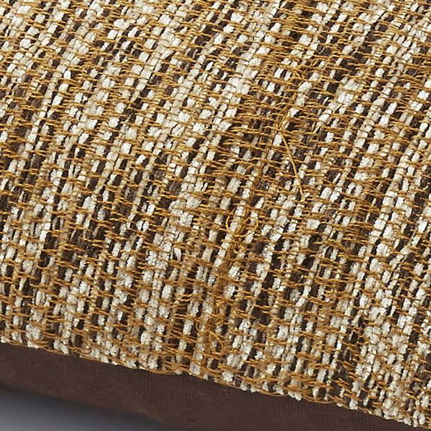 Dutch Decor Sierkussen Tribat 45x45 cm bruin