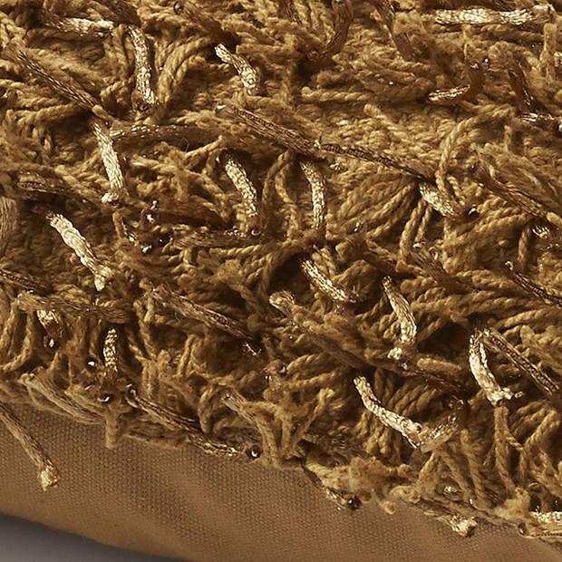 Dutch Decor Sierkussen Ottawa 45x45 cm klei