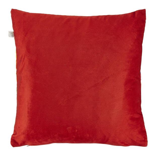 Dutch Decor Sierkussen Makis 45x45 cm rood
