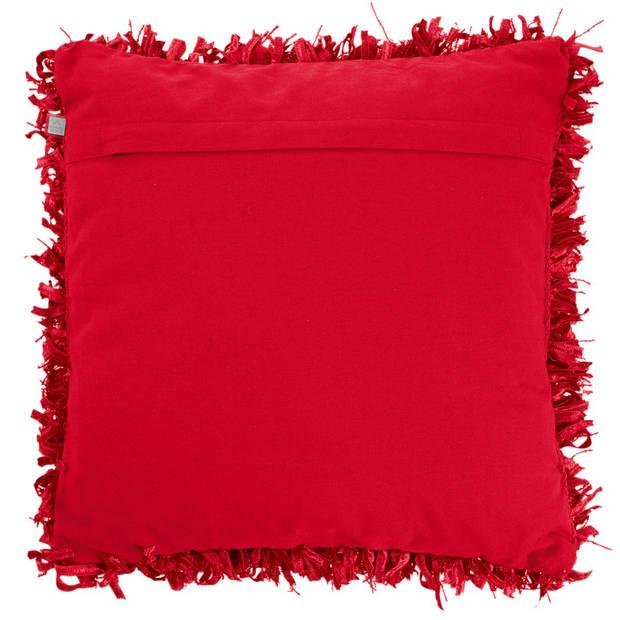 Dutch Decor Sierkussen Shannon 45x45 cm rood