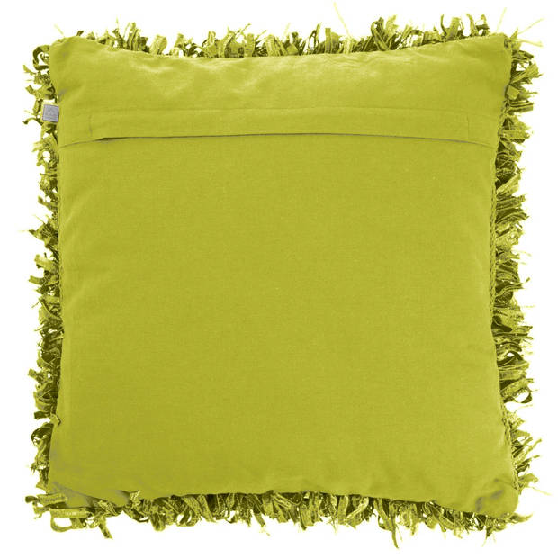 Dutch Decor Sierkussen Shannon 45x45 cm lime