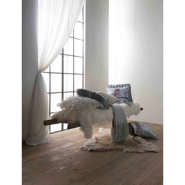 Dutch Decor Sierkussen Ravello 45x45 cm ivoor