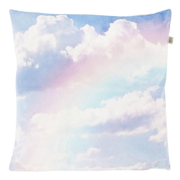 Dutch Decor Sierkussen Rainbow 45x45 cm roze