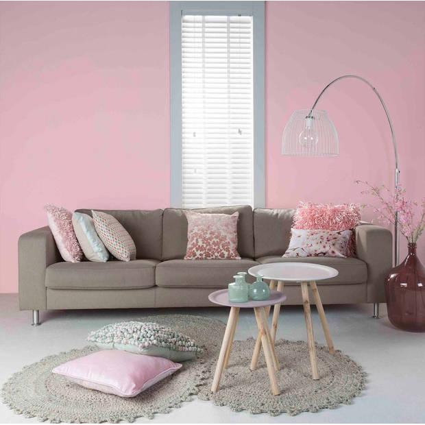 Dutch Decor Sierkussen Ravello 45x45 cm roze
