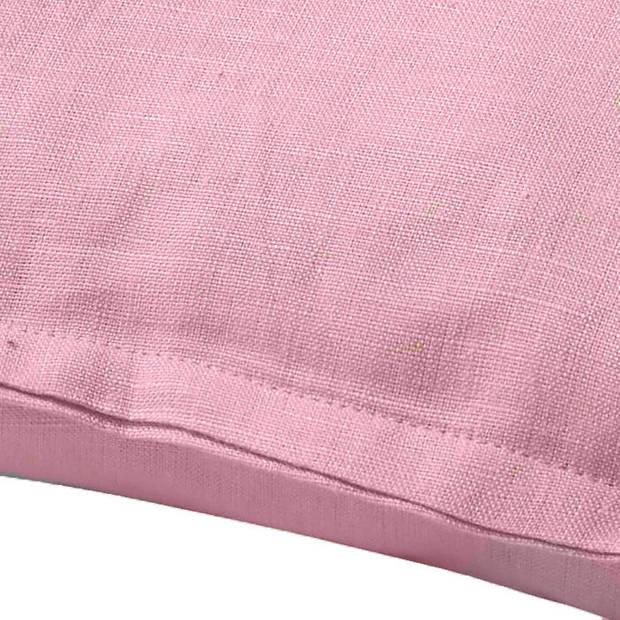 Dutch Decor Sierkussen Linnen 45x45cm roze