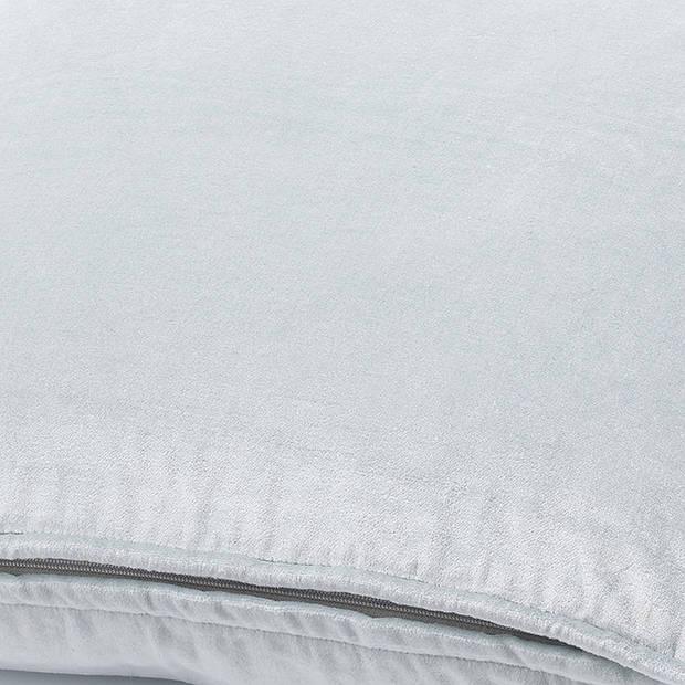 Dutch Decor Sierkussen Fluweel 45x45 cm ice