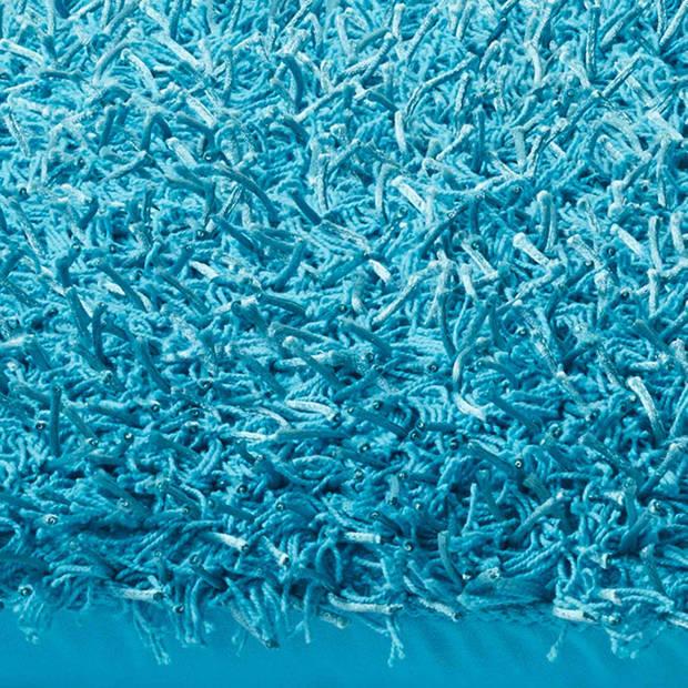 Dutch Decor Sierkussen Ottawa 45x45 cm aqua