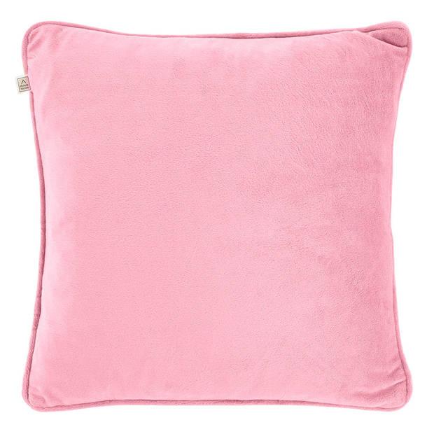 Dutch Decor Sierkussen Velvet 45x45 cm roze