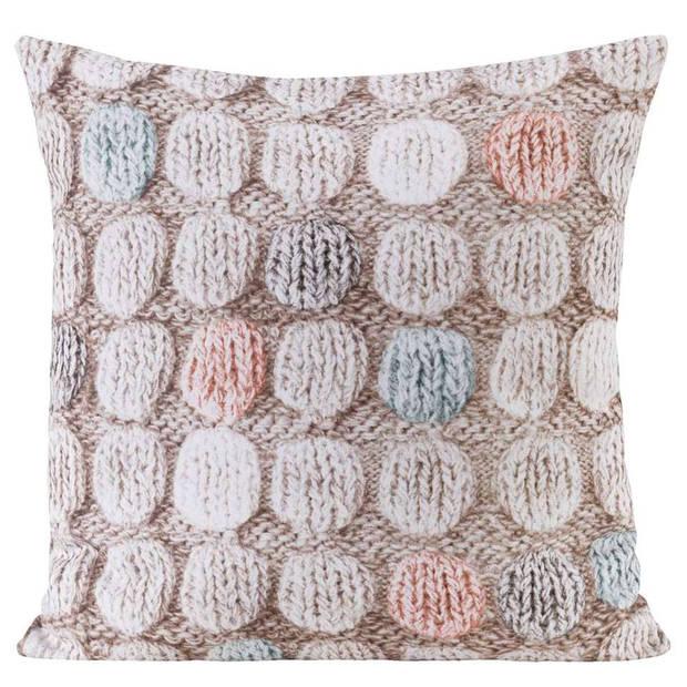 Skn. Knitting Dots Multicolor 43x43cm Aah