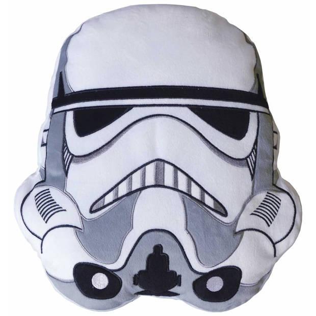 Disney 3d stormtrooper - sierkussen - 36 x 38 cm - wit