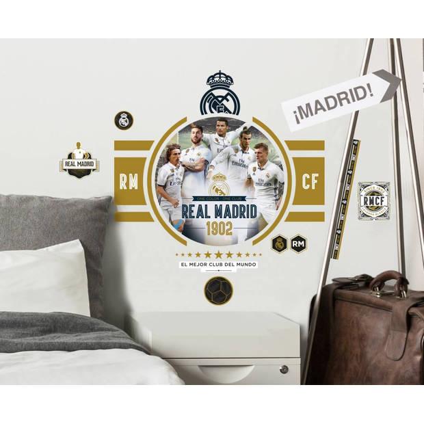 Real madrid golden boys - muursticker - 2 sheets a3 - multi
