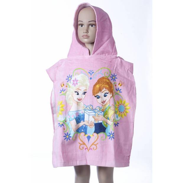 Disney Elsa Anna Pink - Poncho - 50 x 100 cm - Roze