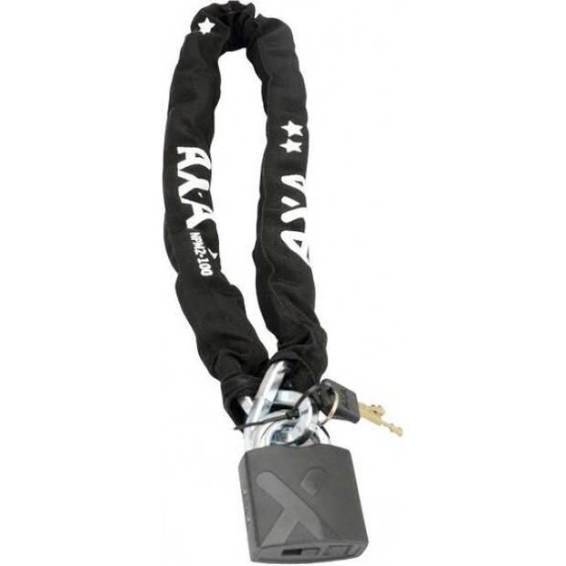 Simson kettingslot AXA Newton Pro Moto padlock 100 cm zwart