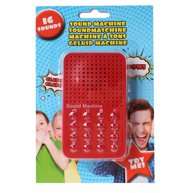 Eddy Toys sound machine rood 6 x 10 cm