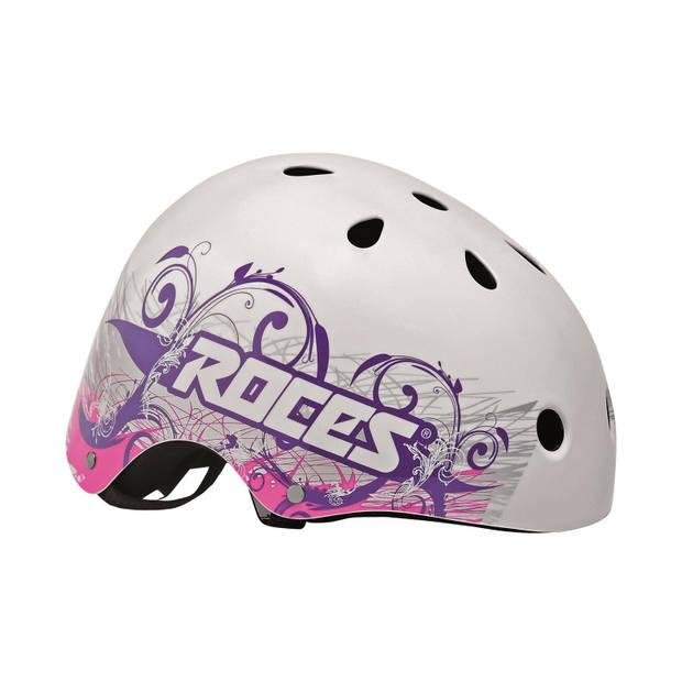 Roces Tattoo Aggressive helm wit/blauw/roze maat 48-52