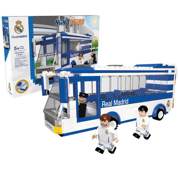 Nanostars bouwset spelersbus Real Madrid - 283 stuks