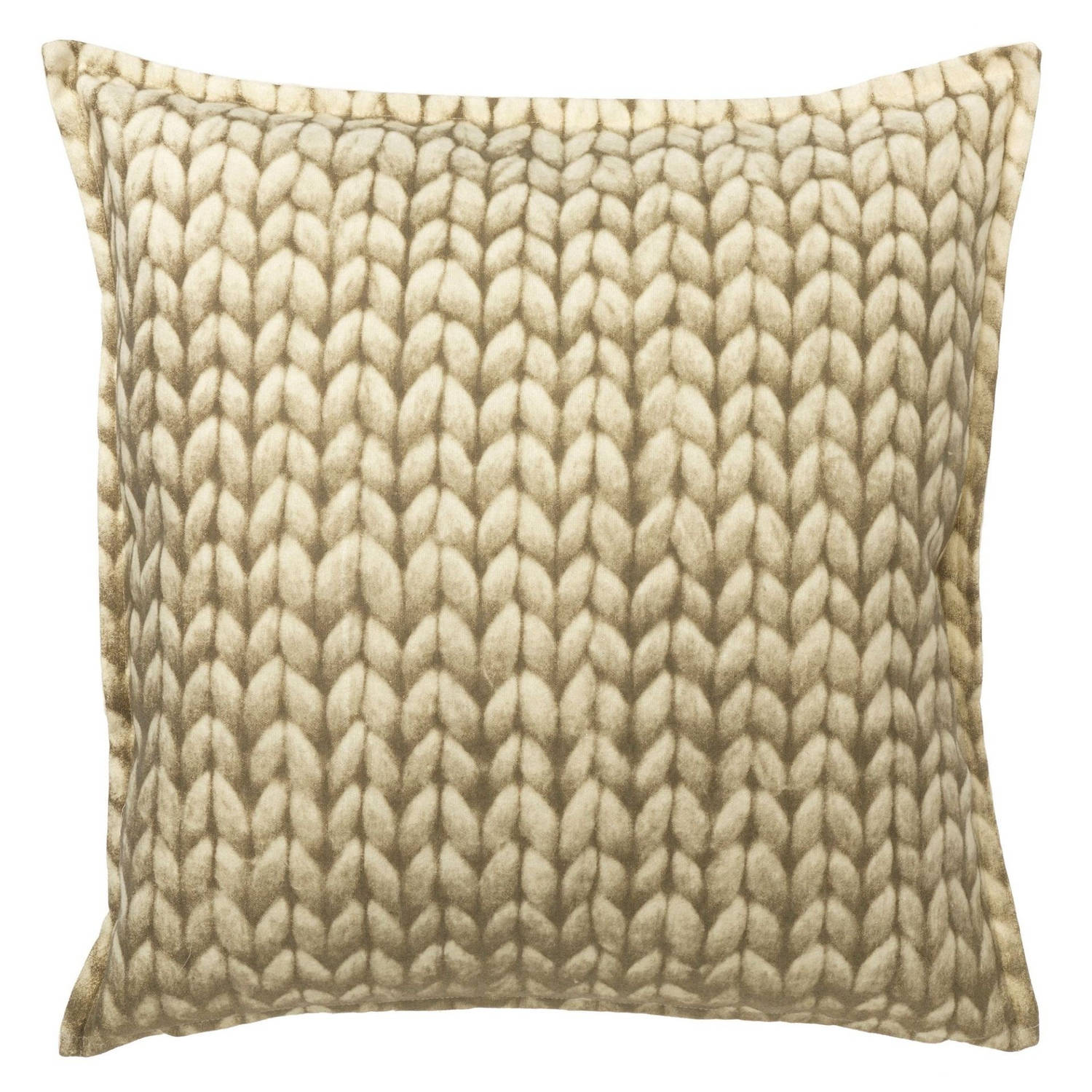 Dutch Decor Kussenhoes Galway 70x70 cm taupe
