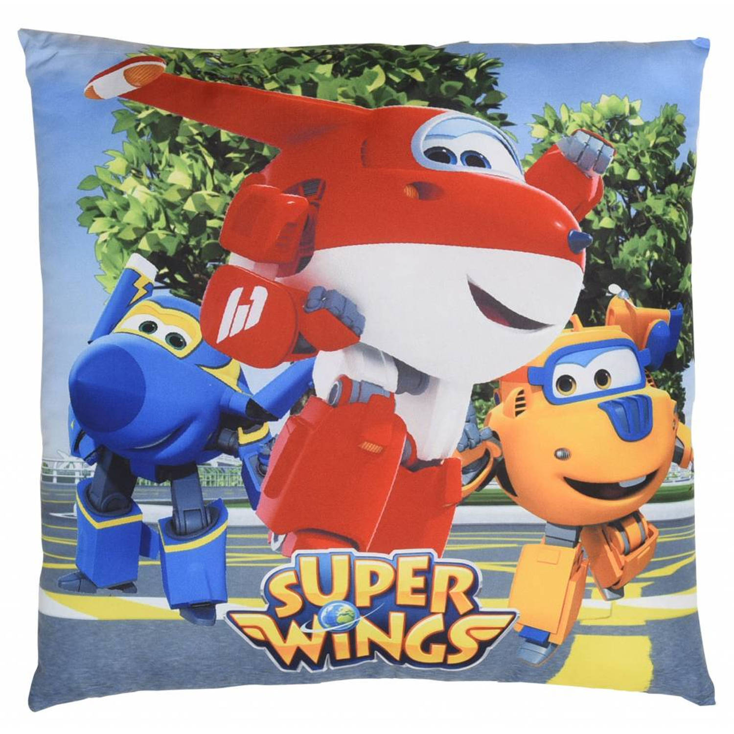 Super wings 3 hero's - sierkussen - 40 x 40 cm - multi